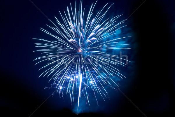 Tűzijáték fekete égbolt fény háttér füst Stock fotó © vapi