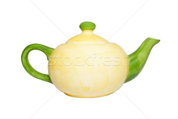 色 中国 ティーポット 孤立した 白 食品 ストックフォト © vapi