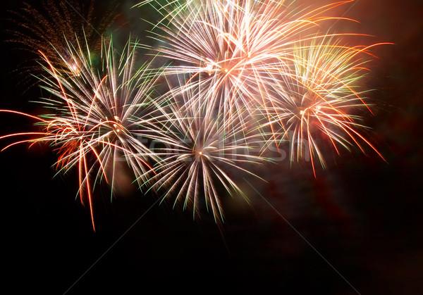 Salute, fireworks above the bay. Sevastopol, Ukraine. Stock photo © vapi