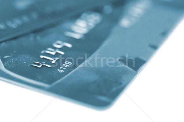 Hitelkártyák izolált fehér pénz terv vásárlás Stock fotó © vapi