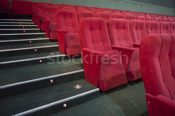 Rood gangpad moderne theater muziek Stockfoto © vapi