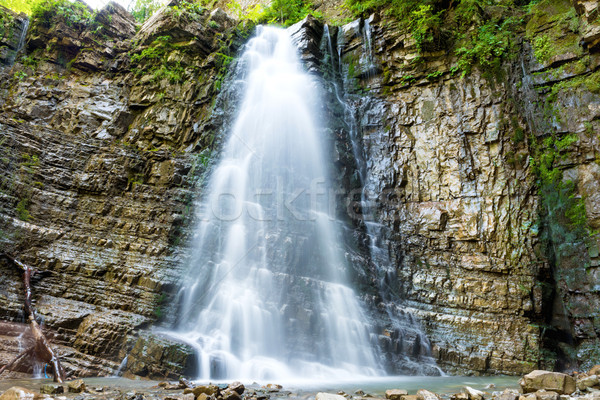 Beautiful waterfall in the forest Stock photo © vapi