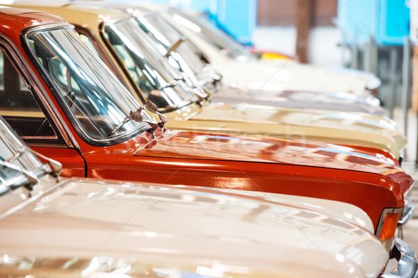 Red and white cars Stock photo © vapi