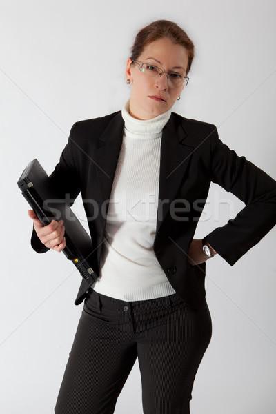 Iş kadını bilgisayar ayakta el iş kadın Stok fotoğraf © varlyte