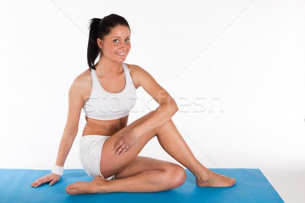 woman doing yoga exercise Stock photo © varlyte