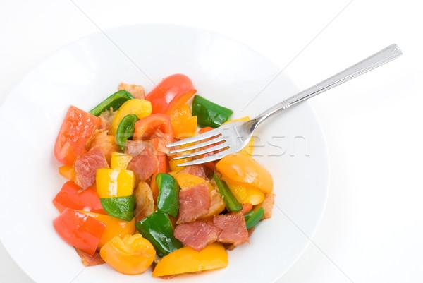 Stir fry Bell pepper Stock photo © varts