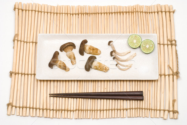 Broiled mushroom Stock photo © varts