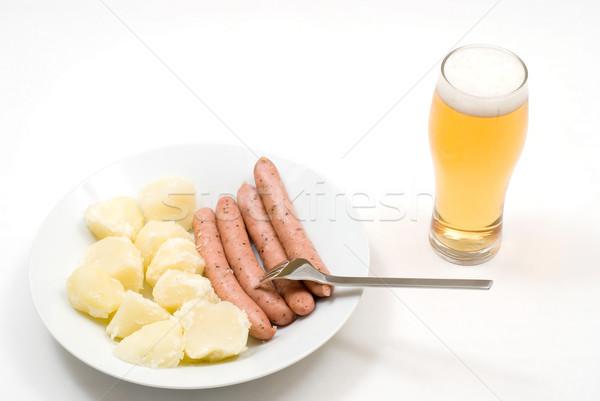 Potato and sausage Stock photo © varts