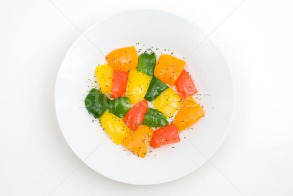 Bell pepper salad Stock photo © varts