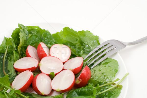 Red radish salad Stock photo © varts