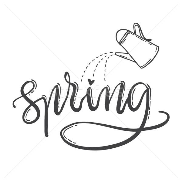Primavera annaffiatoio natura design sfondo Foto d'archivio © vasilixa