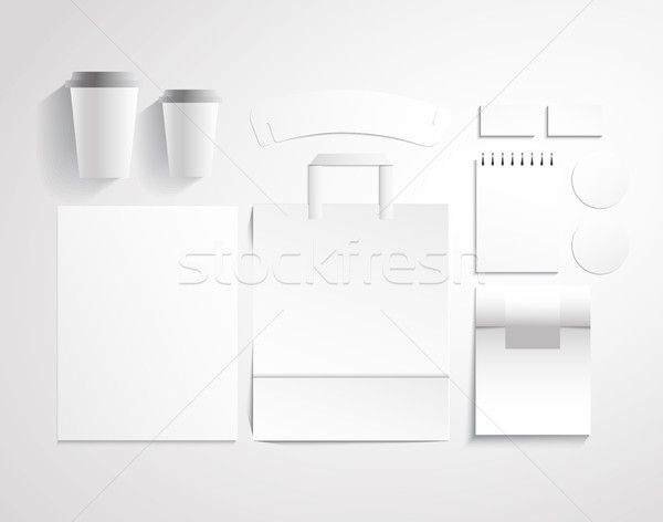Blank mock up Corporate design vector illustration.  Stock photo © vasilixa
