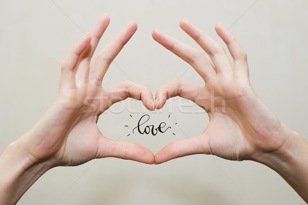 Fingers in heart shape. Love Stock photo © vasilixa