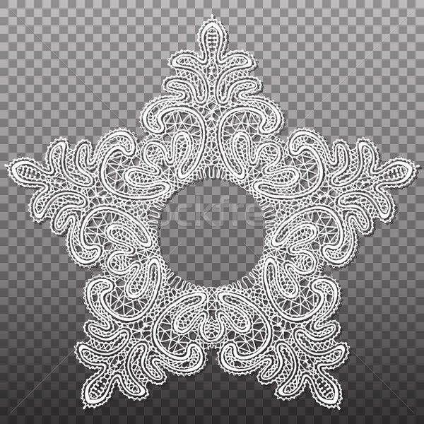 White star lace tapestry pattern. Vector isolated abstract intricate texture. Stock photo © vasilixa