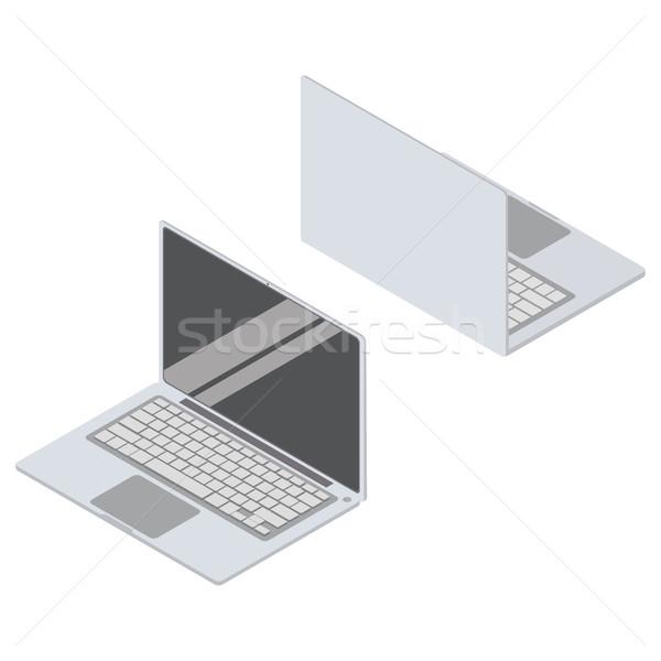 изометрический вектора набор ноутбука 3D Сток-фото © vasilixa