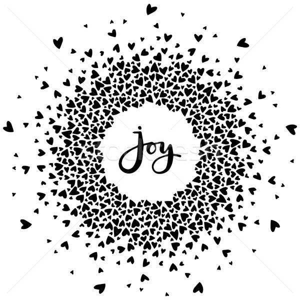 Parola gioia cuori positivo moderno Foto d'archivio © vasilixa