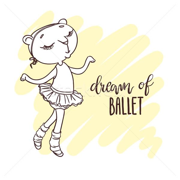 Pequeno bonitinho bailarina balé sonho Foto stock © vasilixa