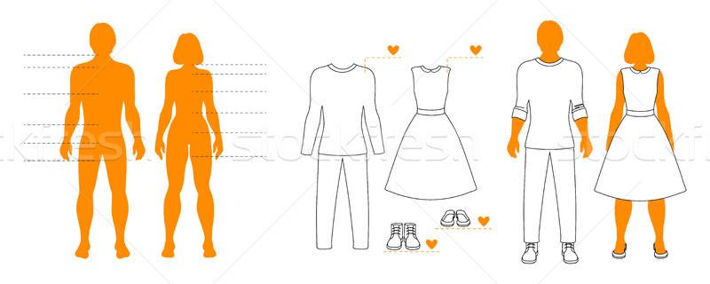 шаблон человека женщину одежды Сток-фото © vasilixa