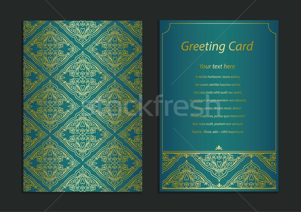 Vintage карт шаблон Сток-фото © vasilixa