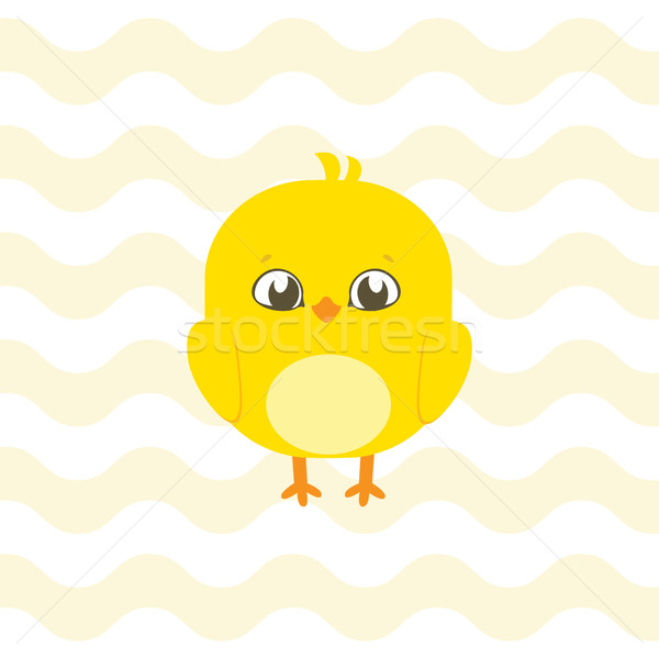Baby shower illustration with cute chick suitable for baby showe Stock photo © vasilixa