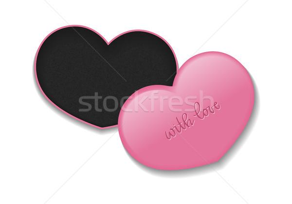 Cosmetici cuore finestra trucco prodotti Foto d'archivio © vasilixa