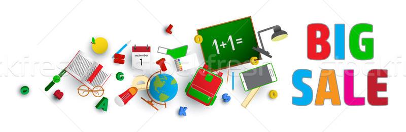 Escolas vetor projeto conceitos venda educação Foto stock © vasilixa