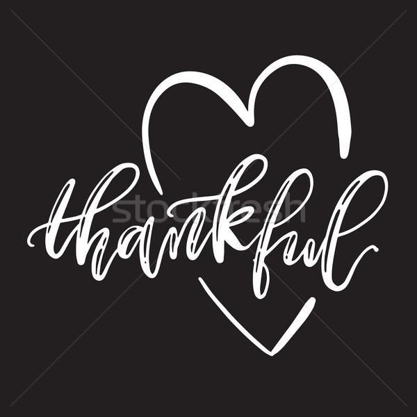 Corazón ilustración vector agradecido Foto stock © vasilixa