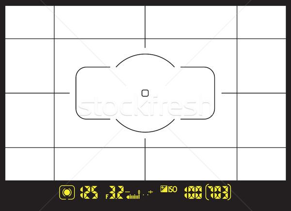 Modernen digitalen Foto Kamera Scharfeinstellung Bildschirm Stock foto © vasilixa