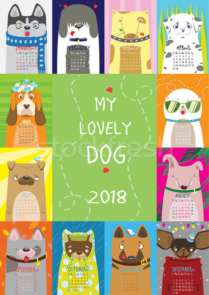Calendar 2018. My Lovely Dog Stock photo © vasilixa