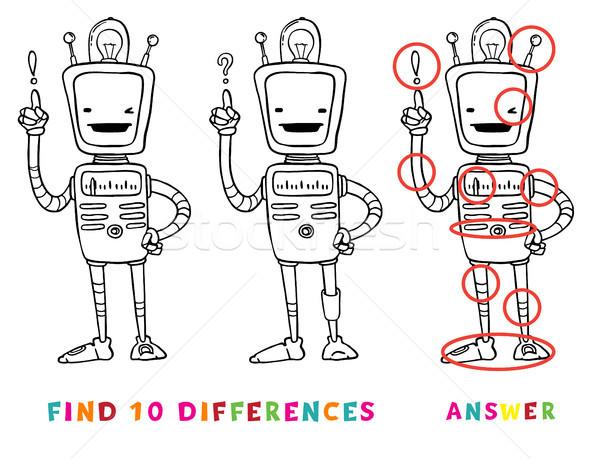 находить десять различия образовательный игры дети Сток-фото © vasilixa