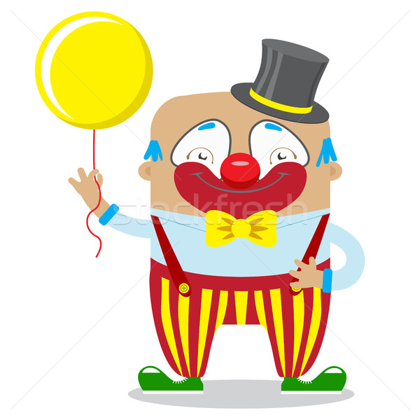 Circus Clown Artist In Classic Outfit With Red Nose And Make Up  Stock photo © vasilixa
