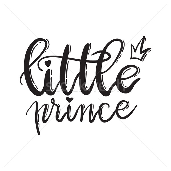 Little prince. Lettering typography fairy tale boy overlay set.  Stock photo © vasilixa
