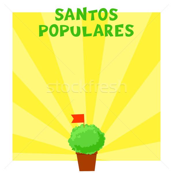 Postuguese Santos Populares banner Stock photo © vasilixa