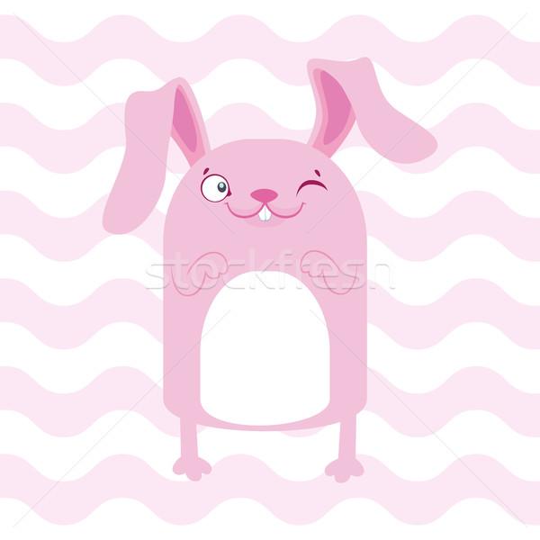 Bebê chuveiro ilustração bonitinho rosa Foto stock © vasilixa