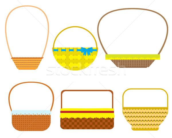 Empty baskets isolated on white background. Stock photo © vasilixa