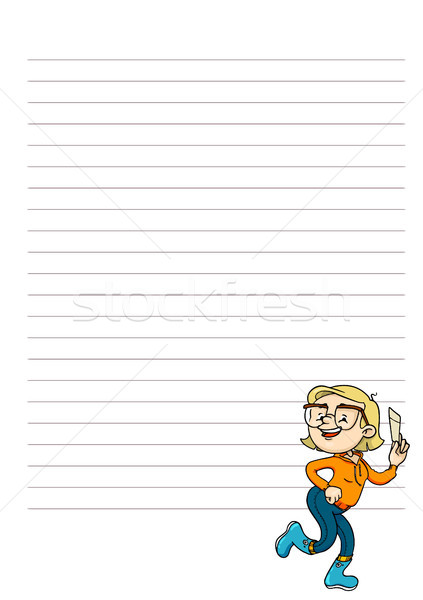 Daily, weekly, monthly planner blank. Page for notes with cute cartoon character. Vector printable o Stock photo © vasilixa