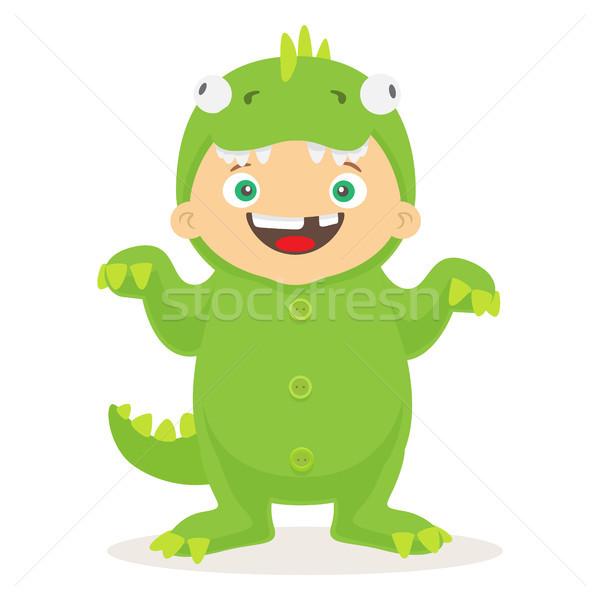 Stock fotó: Halloween · öltöny · gyerek · vektor · rajz · kicsi