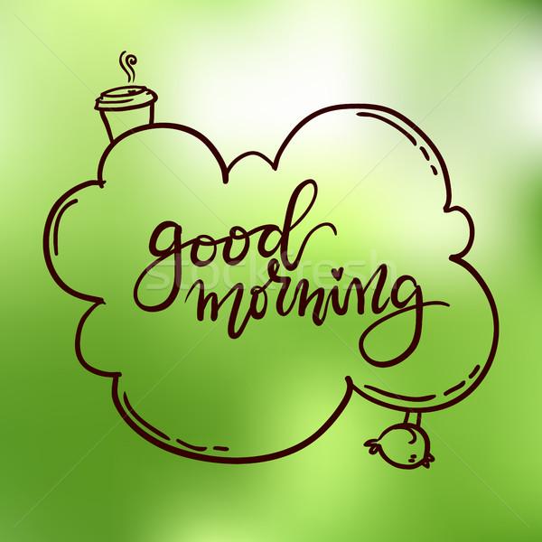Bonjour dessinés à la main design fond Photo stock © vasilixa