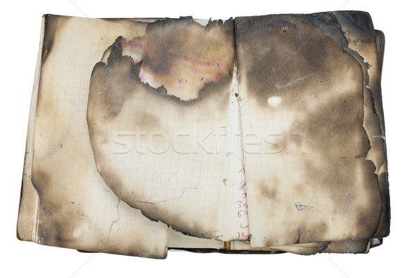 Burned  old notebook Stock photo © vavlt