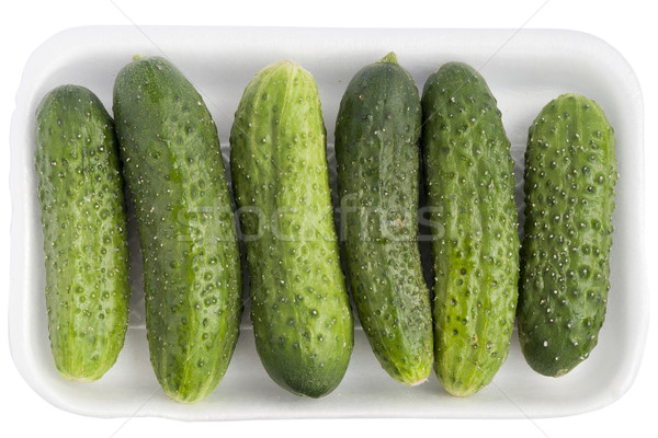 Limp old green cucumbers Stock photo © vavlt