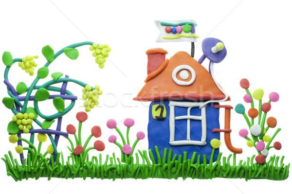 üzüm büyümek küçük ev kolaj rahat Stok fotoğraf © vavlt