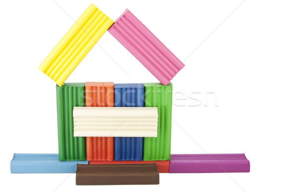 Home from plasticine slices Stock photo © vavlt