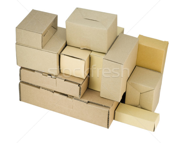 cardboard small boxes of industrial design  Stock photo © vavlt