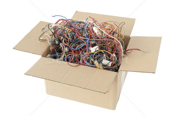 Chaos sztuk miedź przewody przemysłowych Zdjęcia stock © vavlt