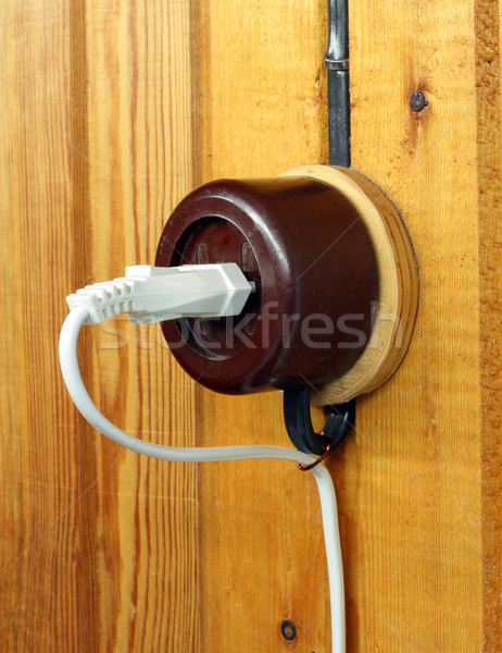 Retro electric outlet Stock photo © vavlt