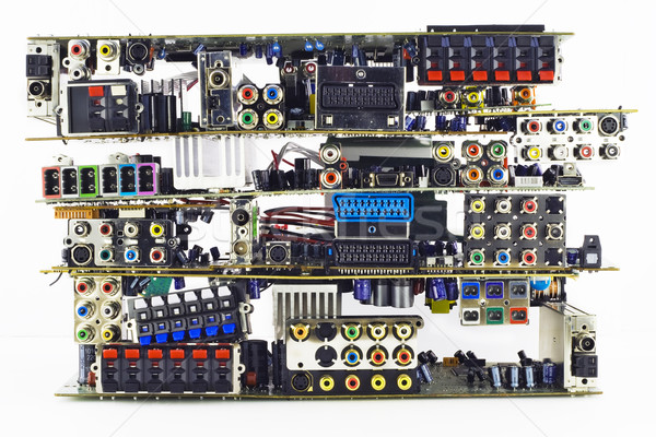 Gebroken elektronische vuilnis communie bereid Stockfoto © vavlt