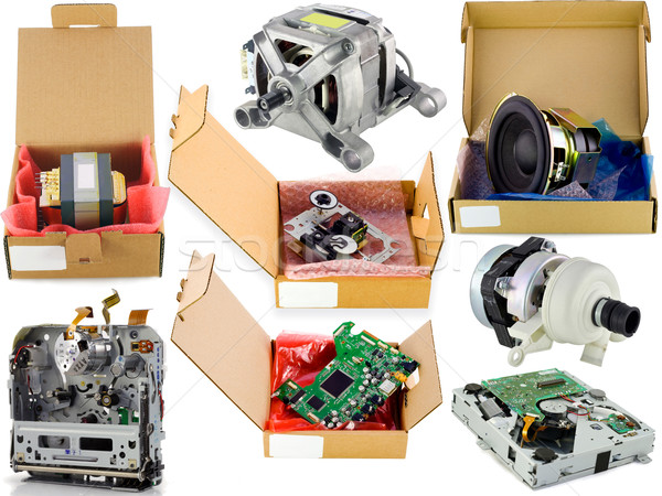 Cardboard spare parts packing set  Stock photo © vavlt