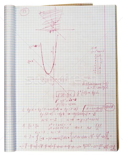 Nehéz feladat döntés iskolás fiú matematikai probléma Stock fotó © vavlt