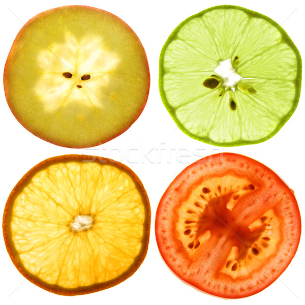 Translucent slices of an fruits Stock photo © vavlt