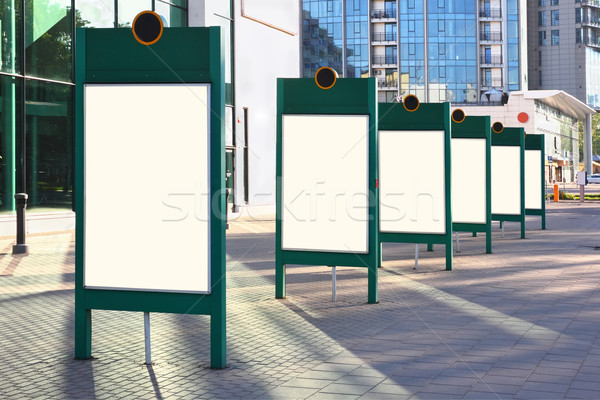 üres hirdetés szám óriásplakátok utcák modern Stock fotó © vavlt
